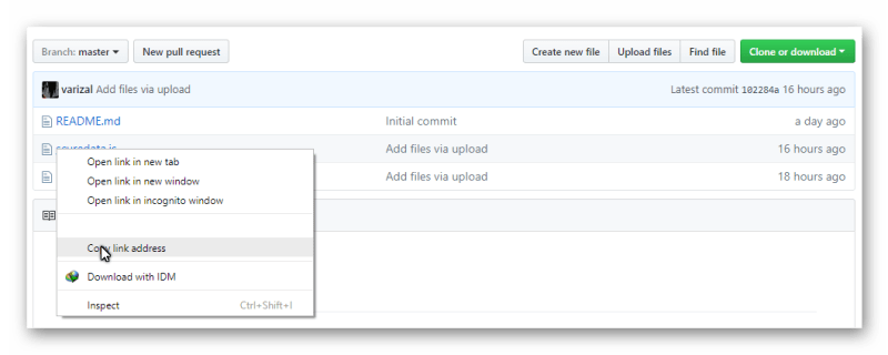 Upload file JavaScript di GitHub