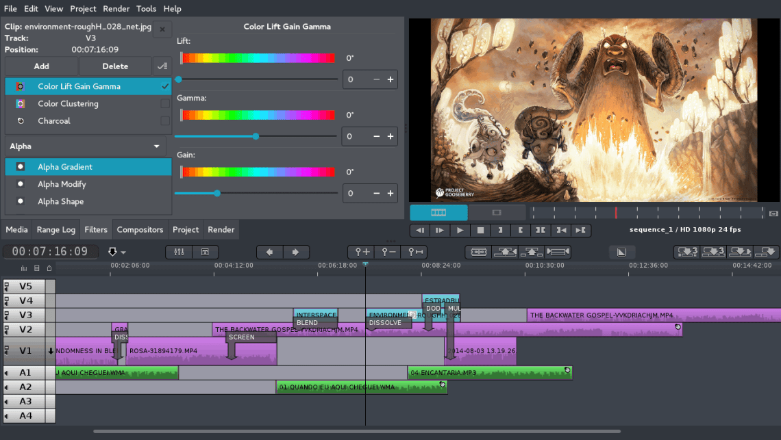 FlowBlade Video Editor Linux