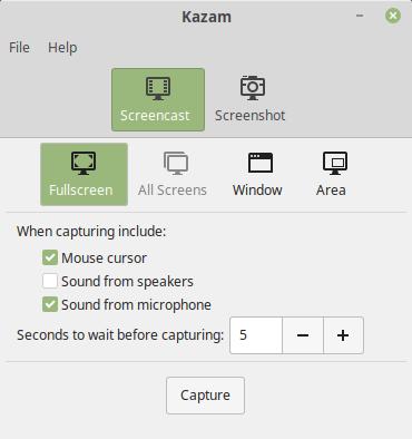Cara Rekam Audio dengan Kazam Screencaster