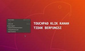 touchpad klik kanan
