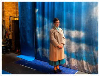 Polly Leech (who plays Florence Pike) backstage, waiting for her cue. Full company, stage and piano rehearsals. Albert Herring. Britten Theatre, Royal College of Music, Prince Consort Road, London. June 17, 2015. Photo: Edmond Terakopian