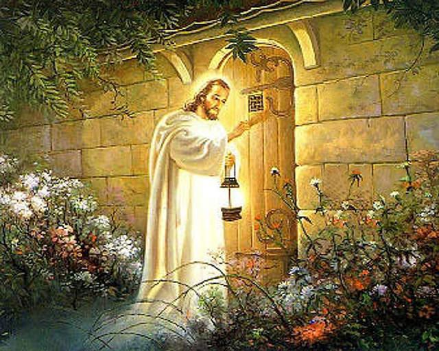 Yesus mengetuk pintu ingin makan dengan kita