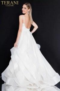 Beautiful Spaghetti Strapped Metallic Prom Dress  1811P5817