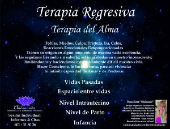 Sesión individual Terapia Regresiva