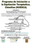 Programa de Iniciación a la Equitación Terapéutica. Chimillas (HUESCA)