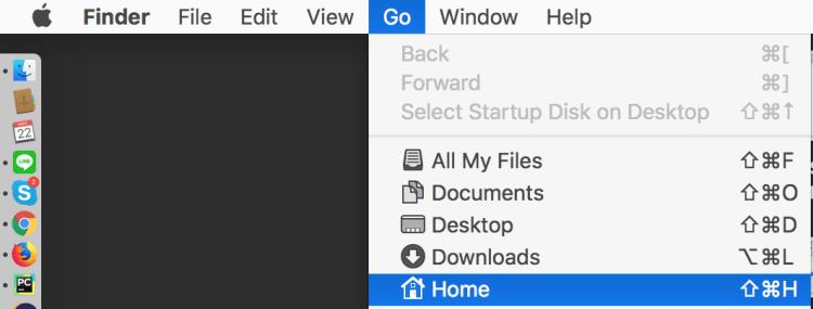 Macユーザー名確認ホーム