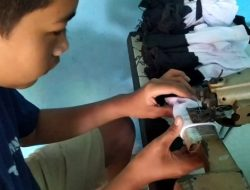 Kembangkan Inovasi Produksi Kaus Kaki, Desa Sidomekar Contoh Nyata BUMDes di Lamsel