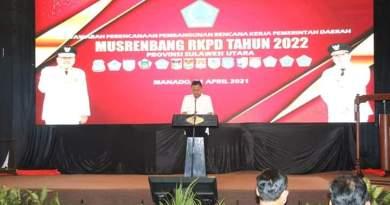 Bupati Minahasa Selatan Franky Donny Wongkar SH Hadiri MUSRENBANG RKPD Tahun 2022 Provinsi Sulawesi Utara