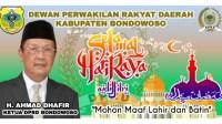 DPRD Bondowoso Ucapkan Selamat Hari Raya Idul Fitri