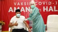 Jalani Vaksinasi Kedua, Wabup dan Sekda Sesumbar Tidak Takut Penyakit Menular Covid-19