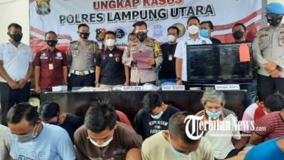 Polres Lampung Utara Ringkus 13 Tersangka 4 Didor