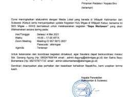 Jalin Silaturahmi Bersama Insan Pres, SKK Migas Sapa Wartawan di Barut Secara Zoom Meeting
