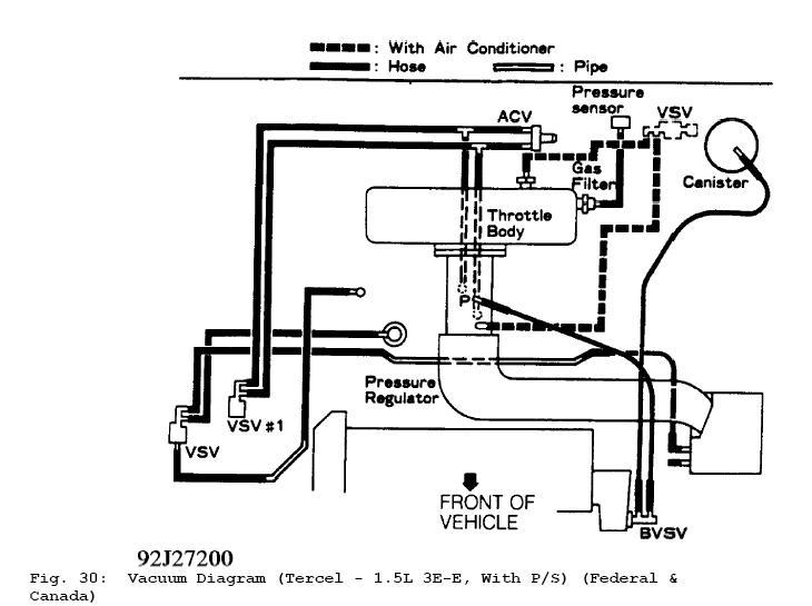 PLEASE! 93' Tercel Need Vacuum line and Fuel line Diagram
