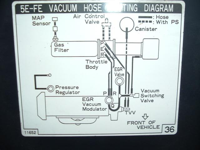 1995 Toyota Vacuum Diagram