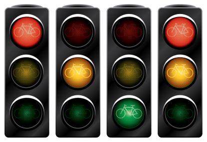 Traffic light for bikes.