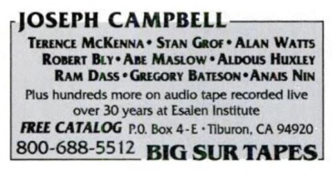 1994 - Yoga Journal (Mar-Apr) - Big Sur Tapes 01