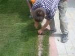 trawa z rolki przycinanie