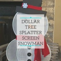 Dollar Tree Splatter Screen Snowman
