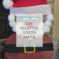 DIY Splatter Screen Santa