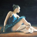The Ballerina oil painting