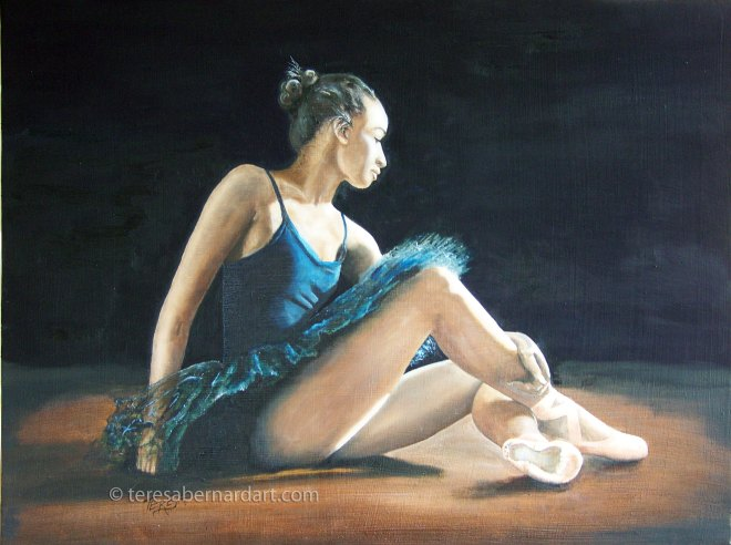 ballerina dancer painting