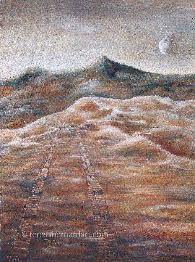 mars landscape painting