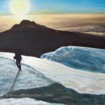 snow mountain painting