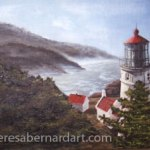 Heceta Head Lighthouse painting