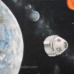 Space The Next Frontier oil painting