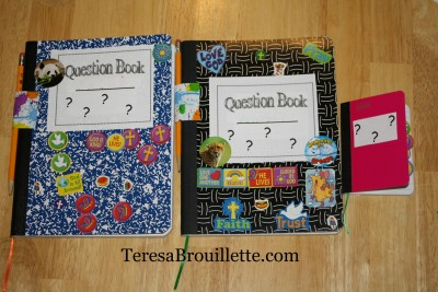 How to create a question book. Let your kids write down their avalanch of questions, to be researched and answer later.