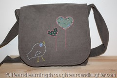 Patches, a purse, and preschool needlework