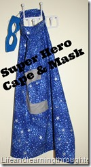 Super hero cape and mask tutorial