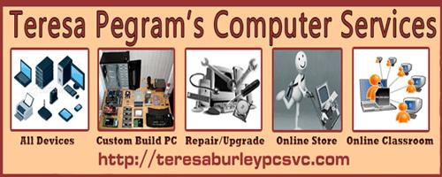Logo image: Teresa Pegram's Computer Services