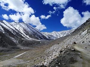 Nubra valley side of Khardung La Pass