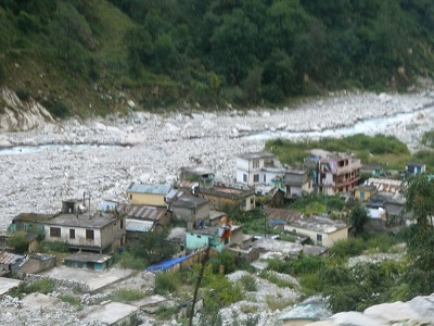 Pulna, the vllage destroyed by the 2013 cloudburst, a ghost town on the way to the VOF, Himalayan India