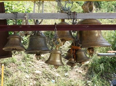 Temple Bells at Kali Temple, Srinagar, Uttarkhand, Himalayas, India