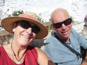Enjoying some rest in the sun at Las Chimeneas, Mairena, Alpujarras, Andalusia, Spain