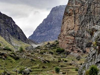 Beyond Mana Village towards Vashdhara Falls and beyond. Himalayan India