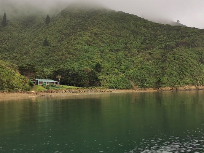A farm house in a remote bay inaccessible by road