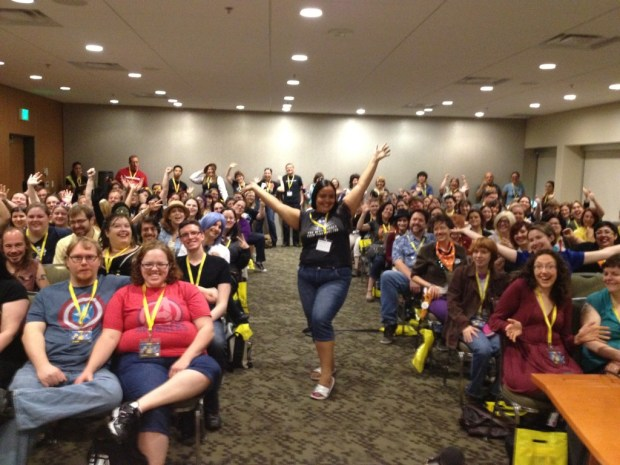 Supportive peeps at a Moffat's Women panel I was moderating at GeekGirlCon two years ago.