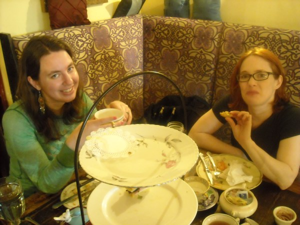 Holly and Olga at Alice's Tea Cup