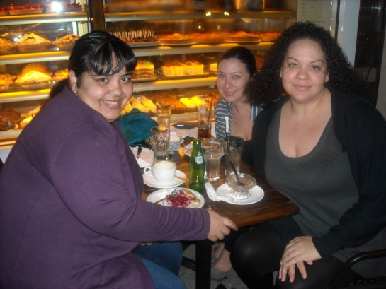 Me, Vanessa, and Eileen at Martha's Country Bakery in Astoria