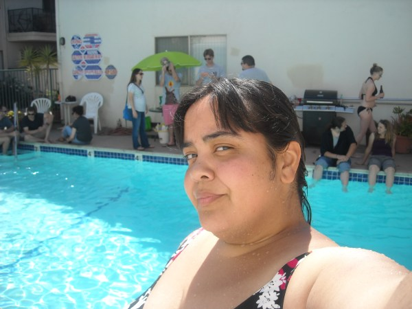 Me at the pool celebrating my pal Jason's bday yesterday!