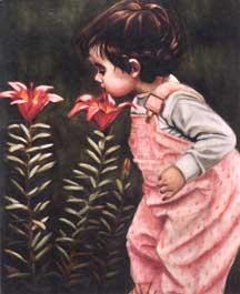 Jeni tasting lilies