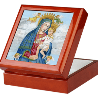 Our Lady of Divine Grace keepsake/rosary box by Teresa Satola, Ltd.