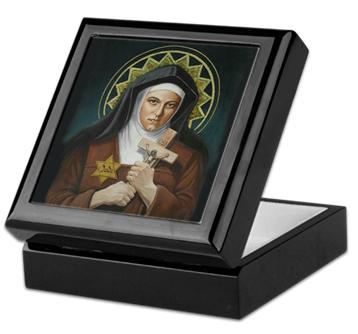 St. Teresa Benedicta of the Cross Keepsake/Rosary Box