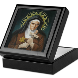 St. Teresa Benedicta of the Cross Keepsake/Rosary Box