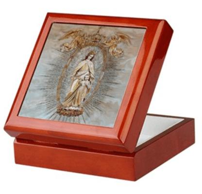 Mary, Help of Christians keepsake/rosary box