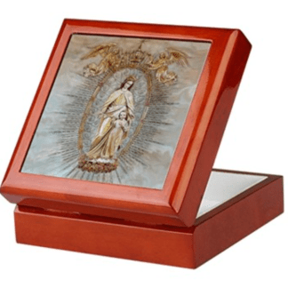 Mary, Help of Christians keepsake/rosary box