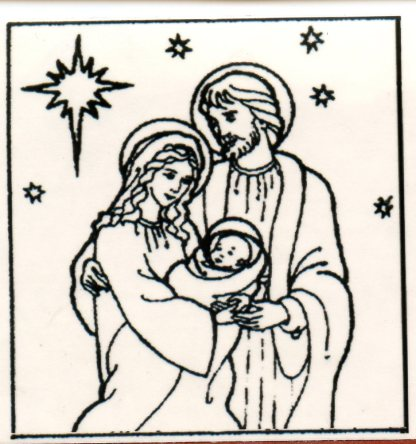 Nativity Rubber Stamp